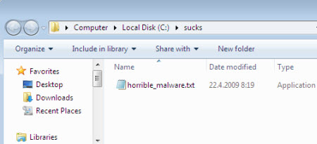 Aqui se muestra el fallo de seguridad característica en Windows NT, 2000, XP y Vista.