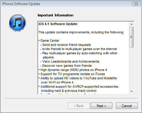 iOS 4.1 now available on iTunes