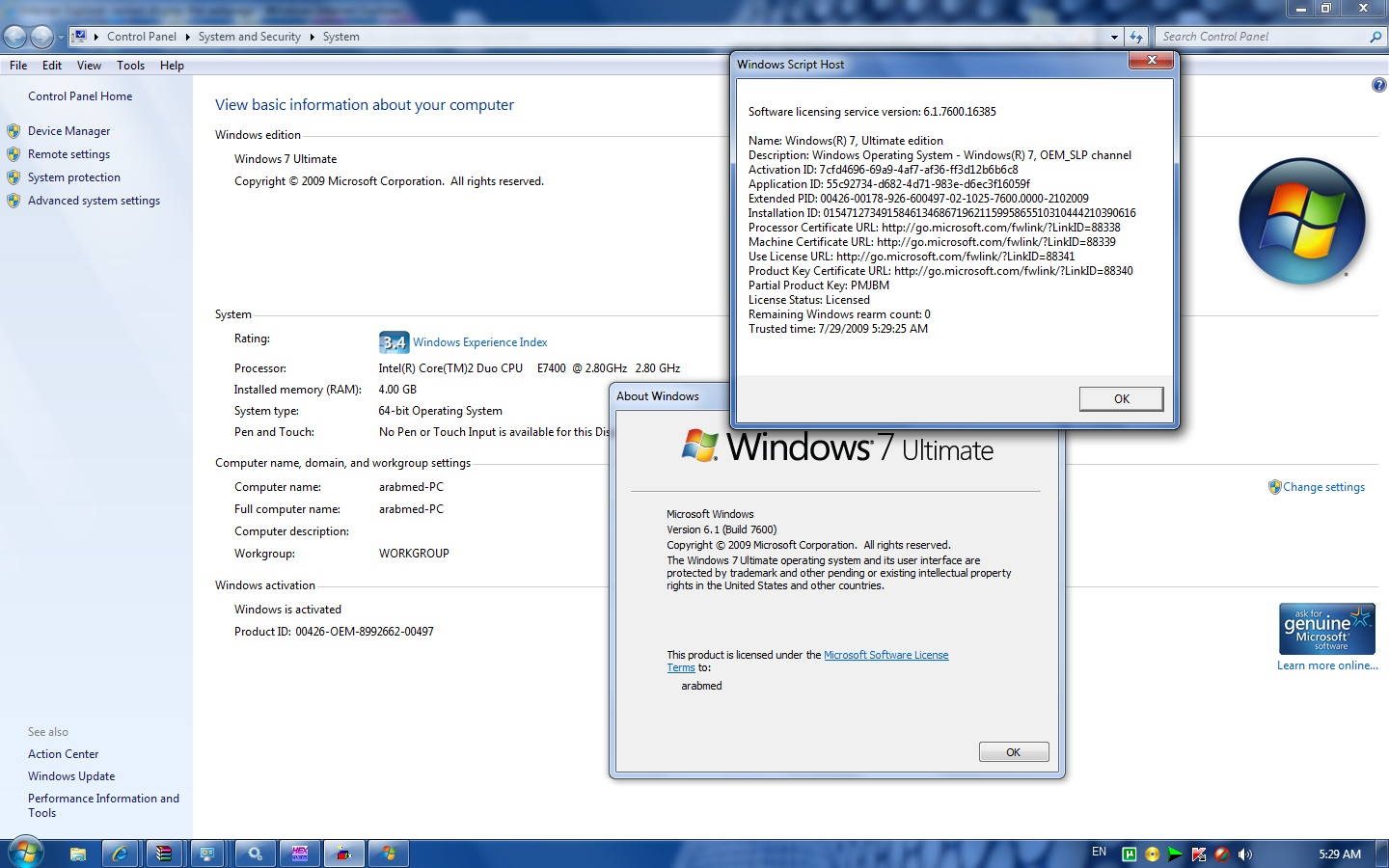 Microsoft confirms Windows 7 activation leak