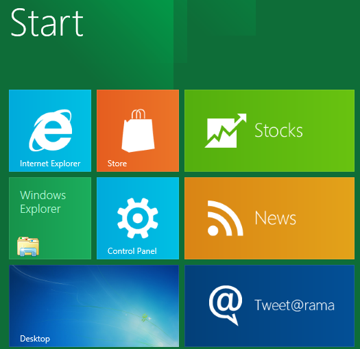 Tiles pada Metro UI Windows 8 [image source: ZDnet]