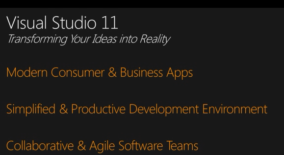 Visual Studio 11-Transforming Your Ideas into Reality