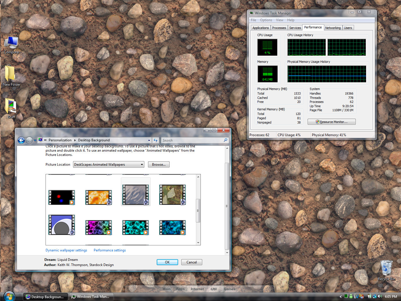 But now Stardock is bringing animated wallpapers to the Vista masses.