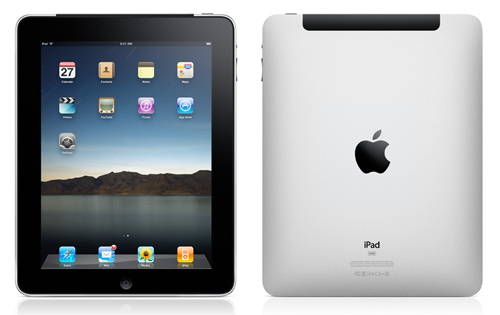 Apple iPad front and back