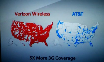 Verizon Netwrok vs AT&T (via ZDnet)