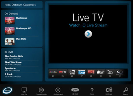 Cablevision on iPad