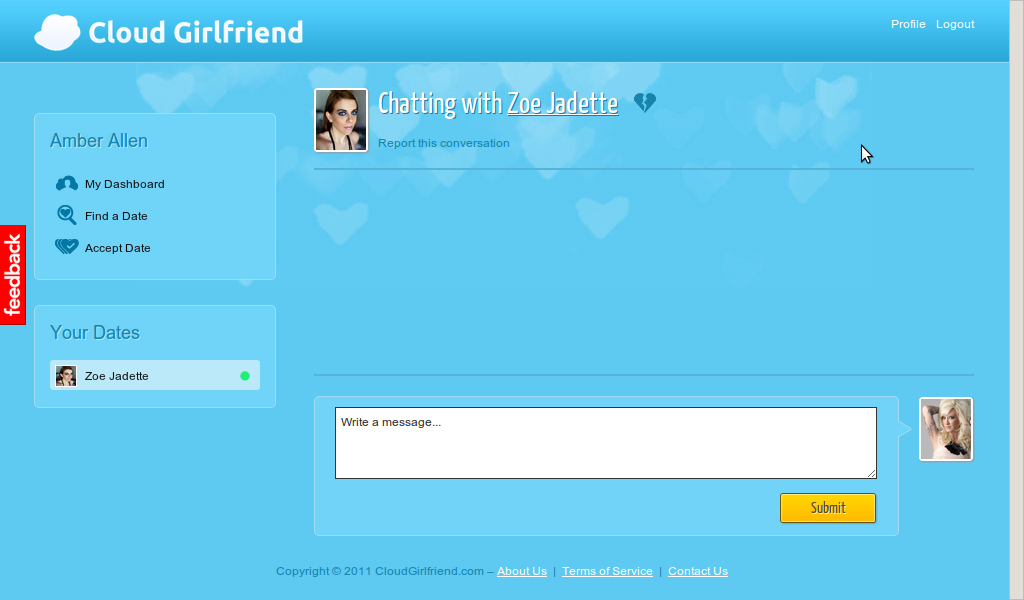 datechat Cloud Girlfriend Open To All: Hard Lessons For Dating Sims