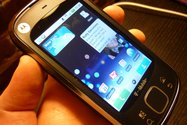 motorola cliq. The Motorola Cliq XT is easily