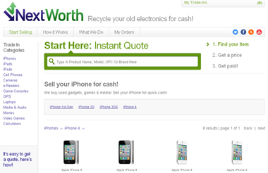 Trade-in your iPhone (iphone 4 Vodaphone) 4 for $  200 from NextWorth. Image by Gloria Sin