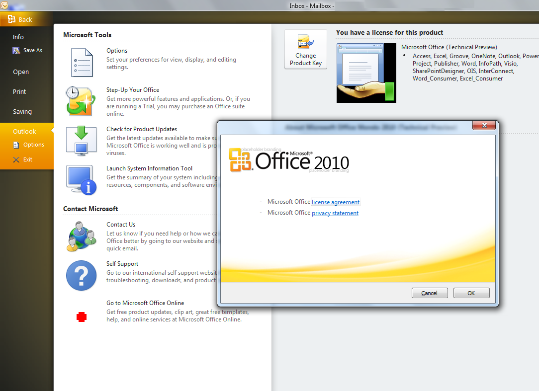 Windows 7 Microsoft Office 2010 x32 14.0 BETA full