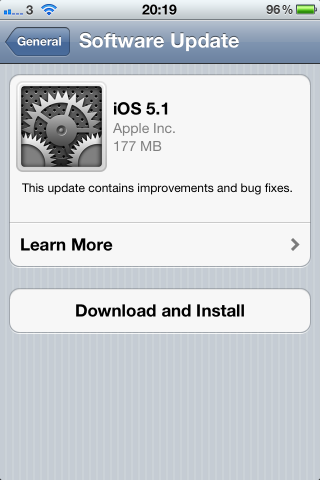 iOS 5.1 available for download