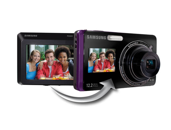 Samsung's new point-and-shoots sport LCDs on front and back
