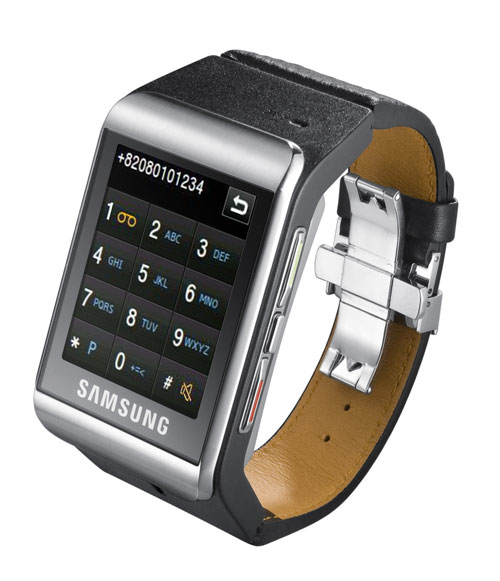 A phone with touchscreen, Bluetooth, e-mail, MP3...on a watch