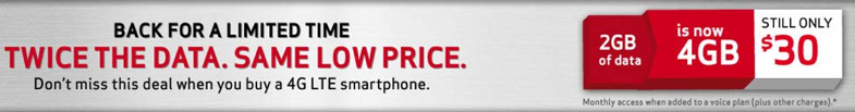 $30 for 4GB data promotion on Verizon - Jason O'Grady