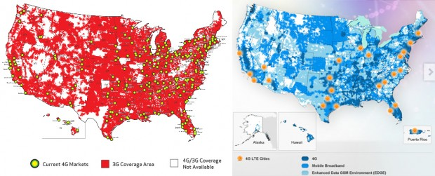 Verizon vs. AT&T LTE coverage maps - Jason O'Grady